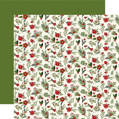 Carta Bella Paper - Christmas Delivery Collection - 12 x 12 Double Sided Paper - Festive Florals
