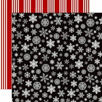 Carta Bella Paper - Christmas Delivery Collection - 12 x 12 Double Sided Paper - Christmas Snowflakes
