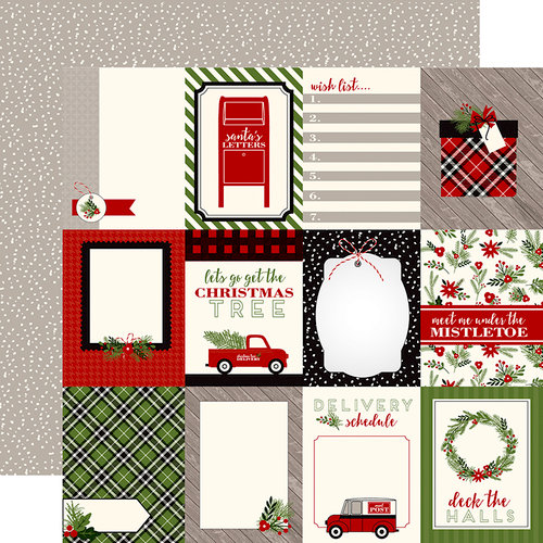Carta Bella Paper - Christmas Delivery Collection - 12 x 12 Double Sided Paper - 3 x 4 Journaling Cards