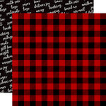 Carta Bella Paper - Christmas Delivery Collection - 12 x 12 Double Sided Paper - Cozy Plaid