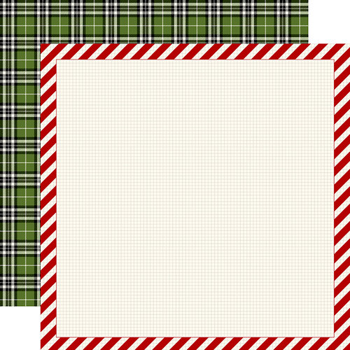 Carta Bella Paper - Christmas Delivery Collection - 12 x 12 Double Sided Paper - Striped Frame