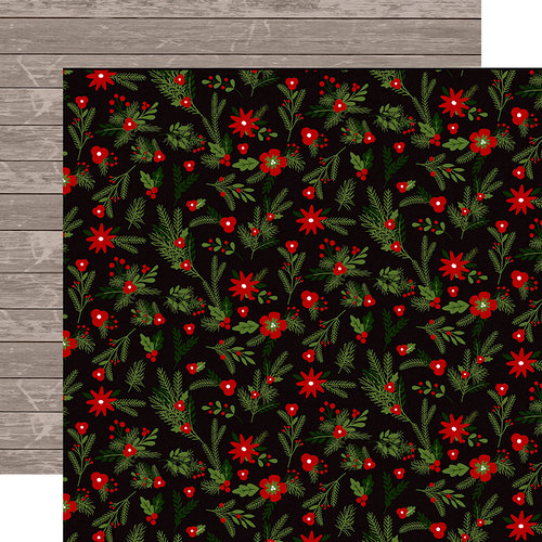 Carta Bella Paper - Christmas Delivery Collection - 12 x 12 Double Sided Paper - Christmas Floral