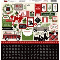 Carta Bella Paper - Christmas Delivery Collection - 12 x 12 Cardstock Stickers - Elements