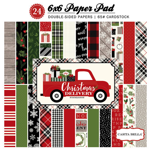 Carta Bella Paper - Christmas Delivery Collection - 6 x 6 Paper Pad
