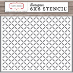Carta Bella Paper - Christmas Delivery Collection - 6 x 6 Stencil - Lattice