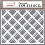 Carta Bella Paper - Christmas Delivery Collection - 6 x 6 Stencil - Plaid 1