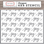 Carta Bella Paper - Christmas Delivery Collection - 6 x 6 Stencil - Joy