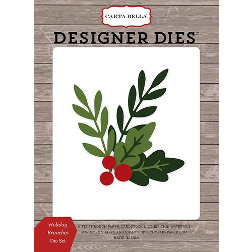 Carta Bella Paper - Christmas Delivery Collection - Designer Dies - Holiday Branches
