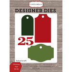 Carta Bella Paper - Christmas Delivery Collection - Designer Dies - Christmas Tags