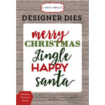 Carta Bella Paper - Christmas Delivery Collection - Designer Dies - Christmas Words 3