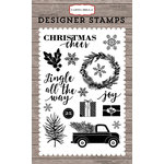 Carta Bella Paper - Christmas Delivery Collection - Clear Acrylic Stamps - Jingle All The Way