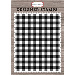 Carta Bella Paper - Christmas Delivery Collection - Clear Photopolymer Stamps - Christmas Plaid A2 Background