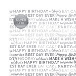 Carta Bella Paper - Celebrate SIlver Foil Collection - 12 x 12 Paper with Foil Accents - White