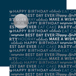 Carta Bella Paper - Celebrate SIlver Foil Collection - 12 x 12 Paper with Foil Accents - Navy