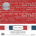 Carta Bella Paper - Celebrate SIlver Foil Collection - 12 x 12 Collection Kit