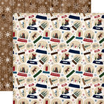 Carta Bella Paper - Cabin Fever Collection - 12 x 12 Double Sided Paper - Frosty Snow Globes