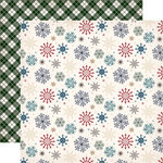 Carta Bella Paper - Cabin Fever Collection - 12 x 12 Double Sided Paper - Snowed In