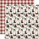 Carta Bella Paper - Cabin Fever Collection - 12 x 12 Double Sided Paper - Woodland Creatures