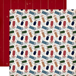 Carta Bella Paper - Cabin Fever Collection - 12 x 12 Double Sided Paper - Sliding Sleds
