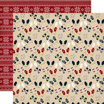 Carta Bella Paper - Cabin Fever Collection - 12 x 12 Double Sided Paper - Smitten By Mittens