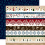Carta Bella Paper - Cabin Fever Collection - 12 x 12 Double Sided Paper - Border Strips