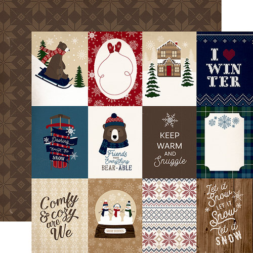 Carta Bella Paper - Cabin Fever Collection - 12 x 12 Double Sided Paper - 3 x 4 Journaling Cards