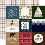 Carta Bella Paper - Cabin Fever Collection - 12 x 12 Double Sided Paper - 4 x 4 Journaling Cards