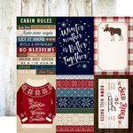 Carta Bella Paper - Cabin Fever Collection - 12 x 12 Double Sided Paper - 4 x 6 Journaling Cards