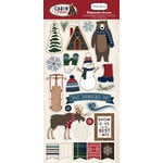 Carta Bella Paper - Cabin Fever Collection - Chipboard Stickers
