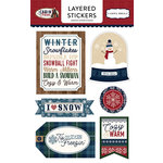 Carta Bella Paper - Cabin Fever Collection - Layered Cardstock Stickers