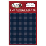 Carta Bella Paper - Cabin Fever Collection - Embossing Folder - Small Buffalo Plaid