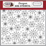 Carta Bella Paper - Cabin Fever Collection - 6 x 6 Stencil - Frosted Snowflakes