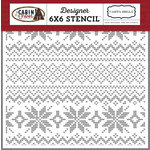 Carta Bella Paper - Cabin Fever Collection - 6 x 6 Stencil - Sweater Weather