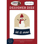 Carta Bella Paper - Cabin Fever Collection - Designer Dies - Snowman Snow Globe