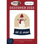 Carta Bella Paper - Cabin Fever Collection - Designer Dies - Snowman Snow Globe