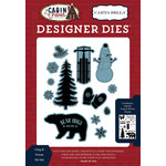 Carta Bella Paper - Cabin Fever Collection - Designer Dies - Cozy and Warm