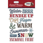 Carta Bella Paper - Cabin Fever Collection - Enamel Words and Phrases
