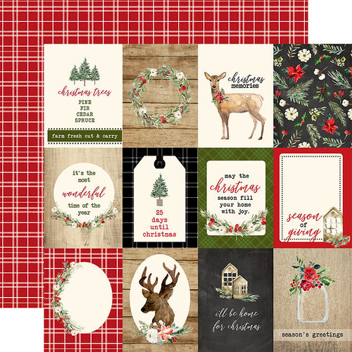 Carta Bella Paper - Christmas Collection - 12 x 12 Double Sided Paper - 3 x 4 Journaling Cards