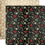 Carta Bella Paper - Christmas Collection - 12 x 12 Double Sided Paper - Poinsettia Pines