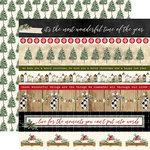 Carta Bella Paper - Christmas Collection - 12 x 12 Double Sided Paper - Border Strips