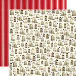 Carta Bella Paper - Christmas Collection - 12 x 12 Double Sided Paper - Wooden Windows