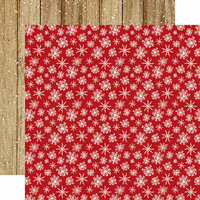 Carta Bella Paper - Christmas Collection - 12 x 12 Double Sided Paper - Merry Snowflakes
