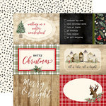 Carta Bella Paper - Christmas Collection - 12 x 12 Double Sided Paper - 4 x 6 Journaling Cards