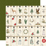 Carta Bella Paper - Christmas Collection - 12 x 12 Double Sided Paper - Gift Tags