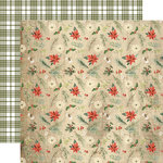 Carta Bella Paper - Christmas Collection - 12 x 12 Double Sided Paper - Winter Floral