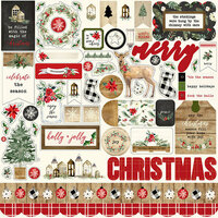 Carta Bella Paper - Christmas Collection - 12 x 12 Cardstock Stickers