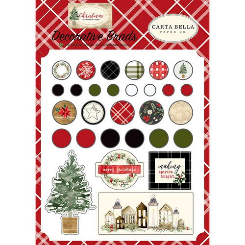 Carta Bella Paper - Christmas Collection - Decorative Brads