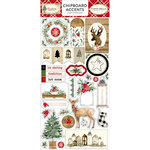 Carta Bella Paper - Christmas Collection - Chipboard Stickers - Accents