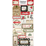 Carta Bella Paper - Christmas Collection - Chipboard Stickers - Phrases