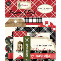 Carta Bella Paper - Christmas Collection - Ephemera - Frames and Tags